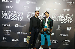 Cape Town-180707- Micah Delport and Ridan Bovers at the SA mens wear week  held at the Lookout, V%A Waterfront. Picture: Siphephile Sibanyoni/ African News Agency (ANA).