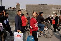 Couple in Dongzhimen, Beijing, China.