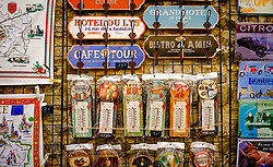 A tourist shop in the medieval Cit&eacute; de Carcassonne, France<br /> <br /> (c) Andrew Wilson   Edinburgh Elite media