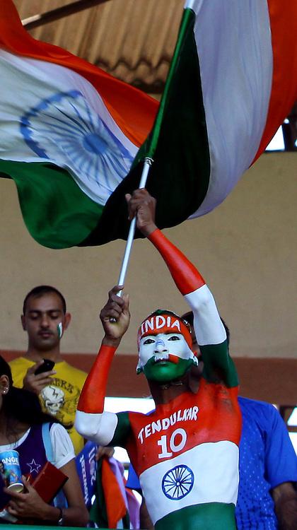 India cricket fans. ICC Cricket World Cup 2011. India v Ireland. M Chinnaswamy Stadium, Bangalore, 6 March 2011. Photo: photosport.co.nz