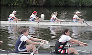 """Henley on Thames. Henley. GREAT BRITAIN;  Lightweight <br /> Coxless Four<br /> Nautilus<br /> <br /> 1995 Women's Henley Regatta. Henley Reach. River Thames.<br /> <br /> [Mandatory Credit; """"Photo, Peter Spurrier/Intersport-images]"""