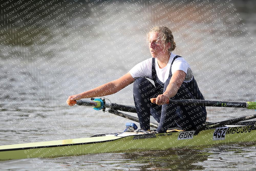 2012.09.29 Wallingford Long Distance Sculls 2012. Division 3. W.IM1 1x. Category Winner. Osiris Boat Club. Chitty.