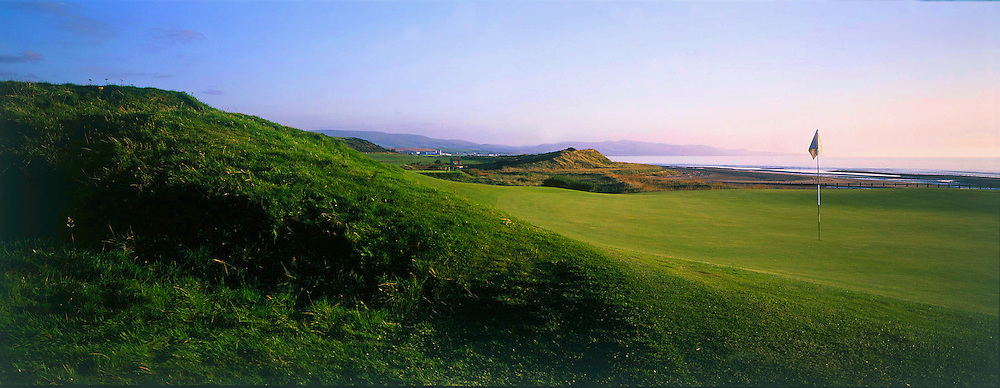View from the back of 4th par 3 at Turnberry - Ailsa Course,Turnberry,Ayrshire,Scotland.