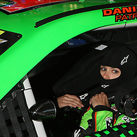 NASCAR Sprint Cup driver Danica Patrick is seen behind the wheel of her car prior to her NASCAR Daytona 500 practice session at Daytona International Speedway on Wednesday, February 20, 2013 in Daytona Beach, Florida.  (AP Photo/Alex Menendez)