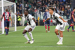 September 26, 2018 - Turin, Piedmont, Italy - Blaise Matuidi (Juventus FC) celebrates after scoring  with Paulo Dybala (Juventus FC) during the Serie A football match between Juventus FC and Bologna FC at Allianz Stadium on September 26, 2018 in Turin, Italy. .Juventus won 2-0 over Bologna. (Credit Image: © Massimiliano Ferraro/NurPhoto/ZUMA Press)