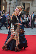 VIVIENNE WESTWOOD; LILY COLE Celebration of the Arts. Royal Academy. Piccadilly. London. 23 May 2012.