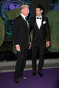 London, UK, 6th July 2014<br /> <br /> The Wimbledon Champions Ball<br /> <br /> Novak Djokovic, 2014 Men's Single Champion arrives at The Wimbledon Champions Ball at The Royal Opera House in London with his coach Boris Becker<br /> ©Exclusivepix