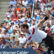 Andy Murray, Great Britain, in action against  Florian Mayer, Germany, during the Men's Singles competition at the US Open. Flushing. New York, USA. 1st September 2013. Photo Tim Clayton