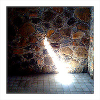 A shaft of light enters a remote corner of the Herradura tequila distillery in Tequila, Jalisco, Mexico. (iPhone image) --- Image created for http://tastetequila.com