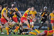 Twickenham, GREAT BRITAIN, Dragons, Phil DOLLMAN, looks for support,  after he's tackled, during the EDF Energy Cup rugby match,  London Wasps vs Newport Gwent Dragons, at Adam Stadium, on 02.11.2008 [Photo, Peter Spurrier/Intersport-images]