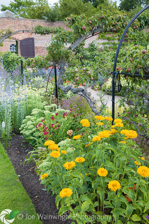 The Walled Garden at Beningbrough Hall, North Yorkshire, was restored by the National Trust in 1995.