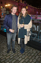 CHRISTOPHER KANE and his sister TAMMY KANE at the launch of Skate at Somerset House in association with Fortnum & Mason held at Somerset House, The Strand, London on 17th November 2015.