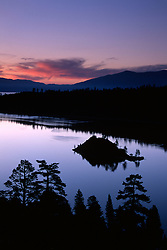 &quot;Emerald Bay Sunrise 2&quot;- This sunrise was photographed at Emerald Bay in Lake Tahoe, CA.<br /> Photographed: June 2004