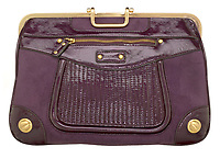 rampage purple purse with gold clasp