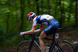 Nicole Hanselmann (Cervélo Bigla) speeds through the woods on her way to a third place finish at Thüringen Rundfarht 2016 - Stage 7 a 131 km road race starting and finishing in Gera, Germany on 21st July 2016.