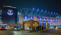 LIVERPOOL, ENGLAND - Sunday, December 4, 2016: Everton's Goodison Park lit up after the FA Premier League match against Manchester United at Goodison Park. (Pic by Gavin Trafford/Propaganda)