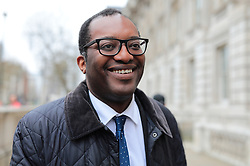 © Licensed to London News Pictures. 22/03/2019. London, UK. Under-Secretary of State at the Department for Exiting the European Union Kwasi Kwarteng MP on Whitehall. The EU27 have agreed to Prime Minister Theresa May's request for a short extension to the deadline for leaving the European Union, offering two new deadlines depending on whether she is able to pass her deal next week. Photo credit: Rob Pinney/LNP