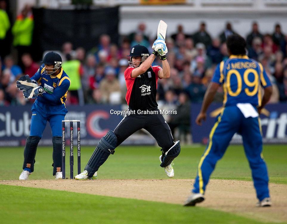 Craig Kieswetter bats during the fourth one day international between England and Sri Lanka at Trent Bridge, Nottingham. Photo: Graham Morris (Tel: +44(0)20 8969 4192 Email: sales@cricketpix.com) 06/07/11