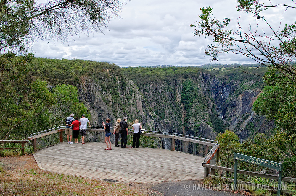 Lookout at Wollomombi Falls in the Oxley Wild Rivers National Park in north central New South Wales, just off Waterfall Way