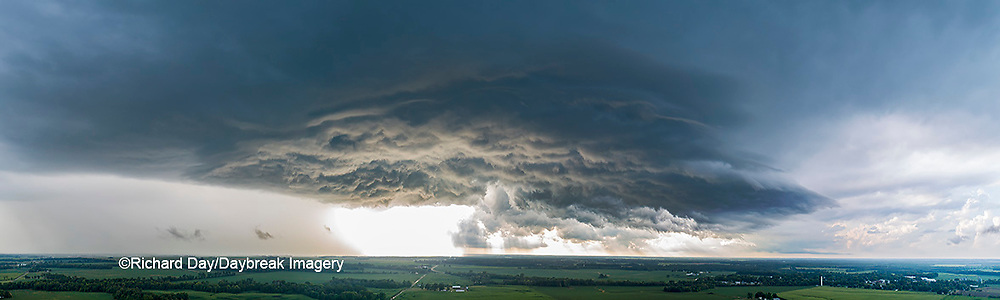 63891-03114 Aerial view of thunderstorm clouds Marion Co. IL