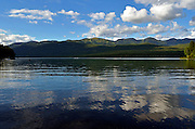 Whitefish Lake with Big Mountain and F.H. Stoltze Land & Lumber property in the background. Flathead County, Montana.