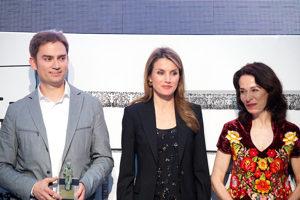 Princess Letizia of Spain attends 'El Barco de Vapor' literature awards at 'Casa de Correos' on April 9, 2013 in Madrid, Spain