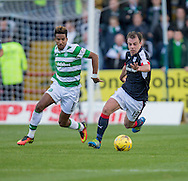 Dundee&rsquo;s Paul McGowan races away from Celtic&rsquo;s Scott Sinclair - Dundee v Celtic in the Ladbrokes Scottish Premiership at Dens Park, Dundee. Photo: David Young<br /> <br />  - &copy; David Young - www.davidyoungphoto.co.uk - email: davidyoungphoto@gmail.com