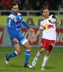 04.12.2011, Stadion, Wiener Neustadt, AUT, 1. FBL, SC Wiener Neustadt vs RB Salzburg, im Bild Michael Madl, (SC Magna Wiener Neustadt, #15) vs Dusan Svento, (Red Bull Salzburg, #18) during the Austrian Bundesliga Match, SC Wiener Neustadt against RB Salzburg, Stadium, Wiener Neustadt near Vienna, Austria on 2011-12-04, EXPA Pictures © 2011, PhotoCredit: EXPA/ S. Woldron