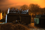 Ironcoffin on a graveyard | Jernkiste på en gravplass.