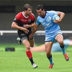 Henry IMMELMAN  of Montpellier and Theo BELAN of Toulouse  during the Top 14 match between Montpellier and Toulouse on October 19, 2019 in Montpellier, France. (Photo by Alexandre Dimou/Icon Sport) - Henry IMMELMAN - Theo BELAN - Altrad Stadium - Montpellier (France)