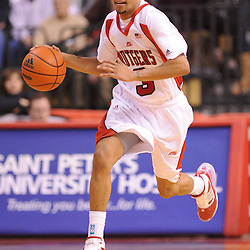 Jan 31, 2009; Piscataway, NJ, USA; Rutgers guard Mike Rosario (3) dribbles the ball on a fast-break during the second half of Rutgers' 75-56 victory over DePaul in NCAA college basketball at the Louis Brown Athletic Center