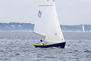 _V0A8103. ©2014 Chip Riegel / www.chipriegel.com. The 2014 Bullseye Class National Regatta, Fishers Island, NY, USA, 07/19/2014. The Bullseye is a Nathaniel Herreshoff designed 15' Marconi rig sailing boat.