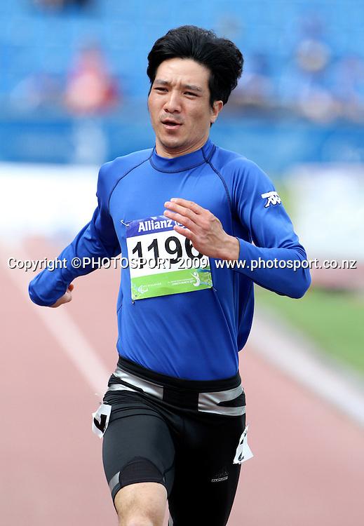 China's Yuxi Ma in the mens T37 heats on day two. IPC Athletics World Championship, 23 January 2011 QE11 Stadium, Christchurch. New Zealand. Photo: John Cowpland / photosport.co.nz