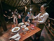 Laos. Luang Say Cruise on the Mekong. Luang Say Lodge. The restaurant.