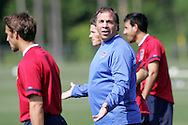17 May 2006: Head coach Bruce Arena (in blue). The United States' Men's National Team trained at SAS Soccer Park in Cary, NC, in preparation for the 2006 World Cup tournament to be played in Germany from June 9 through July 9, 2006.