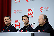September 29, 2015: Guenther Steiner, Haas F1 Team principle, Romain Grosjean, Gene Haas Haas Formula 1 team.