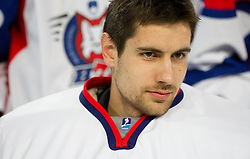 Gasper Kroselj during practice session of Slovenian National Ice Hockey team first time in Arena Stozice before 2012 IIHF World Championship DIV I Group A in Slovenia, on April 13, 2012, in Arena Stozice, Ljubljana, Slovenia. (Photo by Vid Ponikvar / Sportida.com)