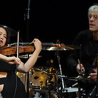 Yoon Kwon with Stewart Copeland