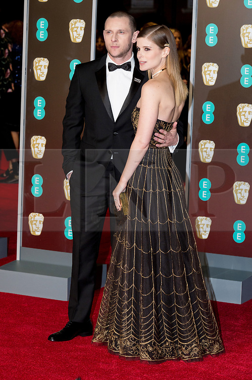 © Licensed to London News Pictures. 18/02/2018. JAMIE BELL and KATE MARA arrives on the red carpet for the EE British Academy Film Awards 2018, held at the Royal Albert Hall, London, UK. Photo credit: Ray Tang/LNP