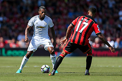 Luis Antonio Valencia of Manchester United is challenged by Joshua King of Bournemouth - Rogan Thomson/JMP - 14/08/2016 - FOOTBALL - Vitality Stadium - Bournemouth, England - Bournemouth v Manchester United - Premier League Opening Weekend.