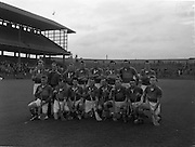 09/10/1960<br /> 10/09/1960<br /> 9 October 1960<br /> St. Brendan Cup Final: Tipperary v New York at Croke Park, Dublin.<br /> Tipperary team.