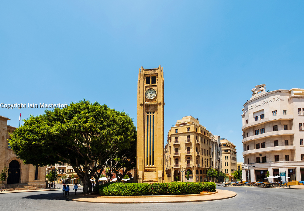 Clocktower in Place d'Etoile Downtown Beirut, Lebanon