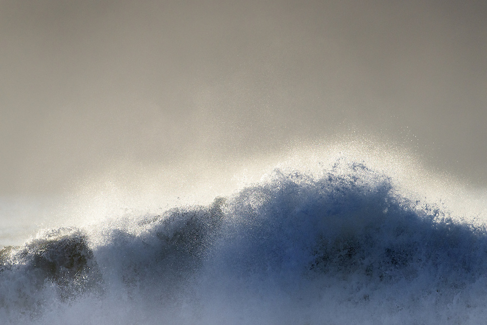 Spray from rollers, south Iceland