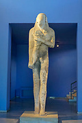 statue of a young man with a ram, Archaeological Museum of Thasos is a museum located in Limenas on the island of Thasos, East Macedonia, Greece