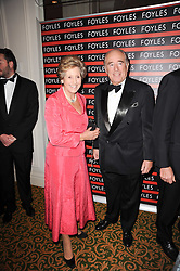 DAME NORMA MAJOR and CHRISTOPHER FOYLE at a gala dinner in celebration of 80 years since the first Foyles Literary Luncheon, held in The Ball Room, Grosvenor House Hotel, Park Lane, London on 21st October 2010.