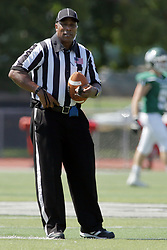 09 September 2017:  Glenn Jackson during an NCAA division 3 football game between the Nebraska Wesleyan PRAIRIE WOLVES and the Illinois Wesleyan Titans in Tucci Stadium on Wilder Field, Bloomington IL