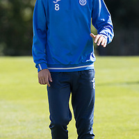 St Johnstone Training….26.08.16<br />Murray Davidson pictured during training this morning at McDiarmid Park who has agreed a loan deal with East Fife<br />Picture by Graeme Hart.<br />Copyright Perthshire Picture Agency<br />Tel: 01738 623350  Mobile: 07990 594431
