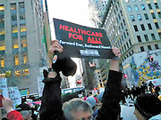 Health Care activist, Unions and Community members held a protest for Heath Care justice and Single Payer Health Care outside Trump Towers in New York City today.  The protest was attended by over 300 people who fear that Donald Trump and his new administration pose a real threat to there future health care. Credit: Mark Apollo/Hashtag Occupy Media