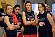 Martina Kacerik, Maddalena Gaia Gorini, Alessandra Formica, Martina Sandri<br /> Raduno Nazionale Italiana Femminile Senior - Allenamento<br /> FIP 2017<br /> Montegrotto Terme, 27/02/2017<br /> Foto Ciamillo - Castoria