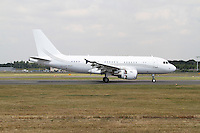 Airbus A319CJ, Farnborough International Airshow, Farnborough Airport UK, 18 July 2014, Photo by Richard Goldschmidt